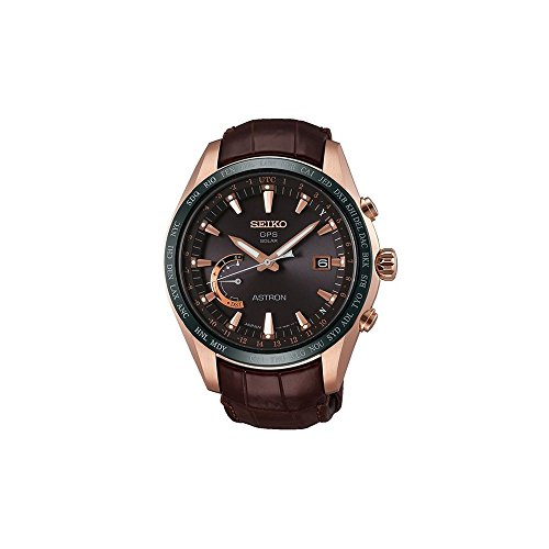 Seiko astron Herren Uhr analog Automatik mit Leder Armband SSE096J1