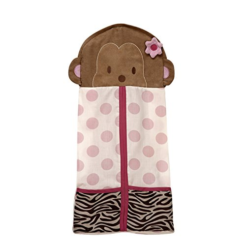 Carter's Jungle Collection Nursery Diaper Stacker, Pink/Lime/Brown/Tan