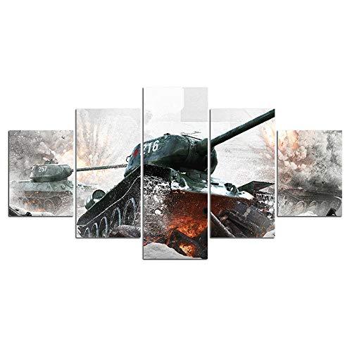 YOPLLL Quadro su Tela Arte della Parete Pittura su Tela Sala da Letto Soggiorno Decorazioni per La Casa Immagine Astratto Moderno 5 Pezzi Fantastico Poster del Gioco(Senza Telaio)