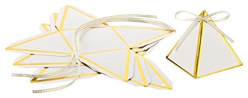 Kleenes Traumhandel 30 Stück schöne weiße Geschenkboxen Gastgeschenke für Hochzeit Kommunion Taufe und Feiern