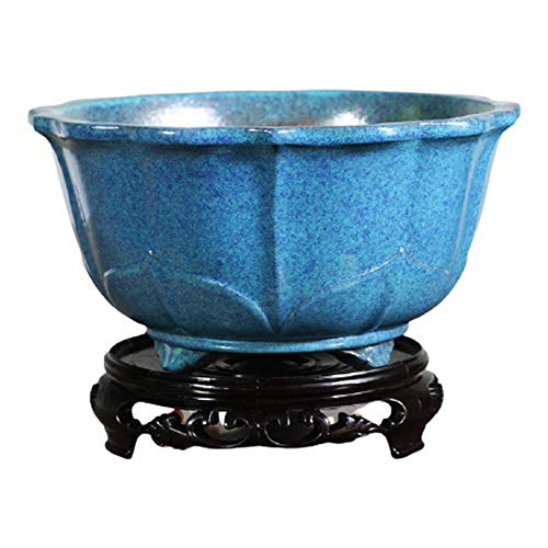CHOUE Azul Maceteros Ceramica Interior con Orificio de Drenaje Hecho a Mano Maceteros Ceramica...