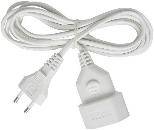 Brennenstuhl kunststof verlengkabel (voor binnen, 3 m kabel, met Euro-stekker en koppeling) wit