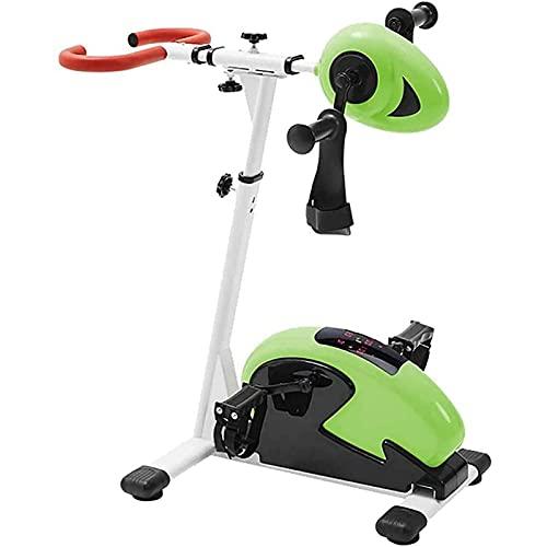 YVX Tren de Fitness a Pedal, Mini Carro de Fitness para Brazos y piernas, Bicicleta de rehabilitación con Pedal Fijo, Equipo portátil de Fisioterapia para Miembros Superiores e Inferiores (tamañ