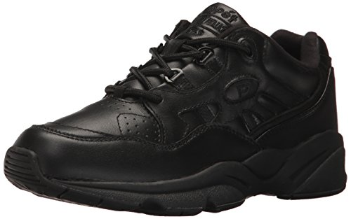 Propet Men's Stability Walker Sneaker, Black, 11 5E US