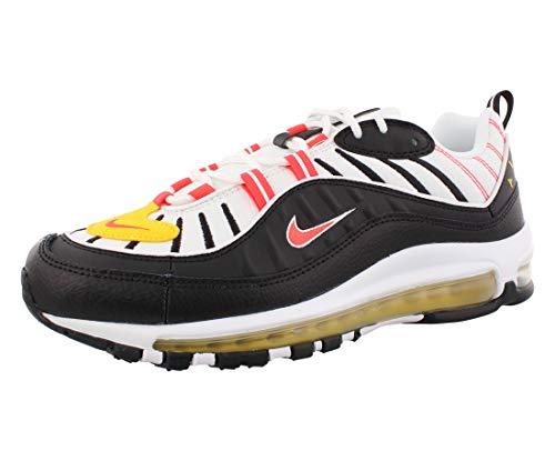 Nike, Air Max 98, scarpe da atletica leggera, multicolore, numero: 41, Uomo, 4786_16046, bianco, nero, arancione, giallo., 44 UE