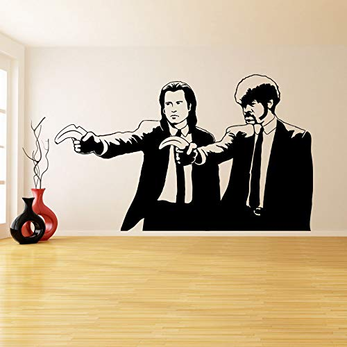 wopiaol Juko Gymnastics Wandaufkleber Bewegliches Wandbild Banksy Pulp Fiction Home Zwei Personen 94X57Cm