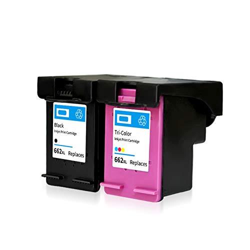 Reemplazo de cartucho de tinta remanufacturado para HP 662 662XL, funciona con Deskjet Ink Advantage 1014 1015 1016 1018 1515 1516 1518 2510 2515 Cartucho de tinta-black+color
