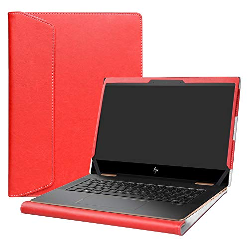 "Alapmk Protective Case Cover for 13.3"" HP Spectre x360 13 13-apXXXX (Such as 13-AP0023DX) & HP EliteBook x360 830 G5 G6 Series Laptop [Note:Not fit Spectre x360 13-acXXX 13-aeXXX],Red"