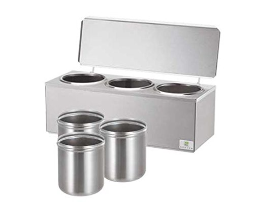 Server Products DI-3-92090 Triple Cone Dip Warmer, 3 quart Capacity, Stainless Steel