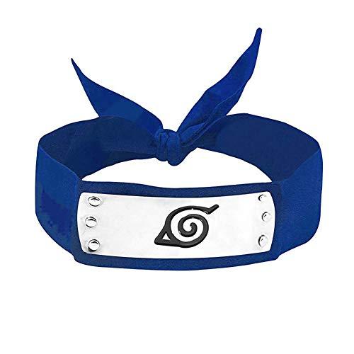 LACKINGONE Naruto Cosplay Bandeau Ninja Konoha (Bleu)