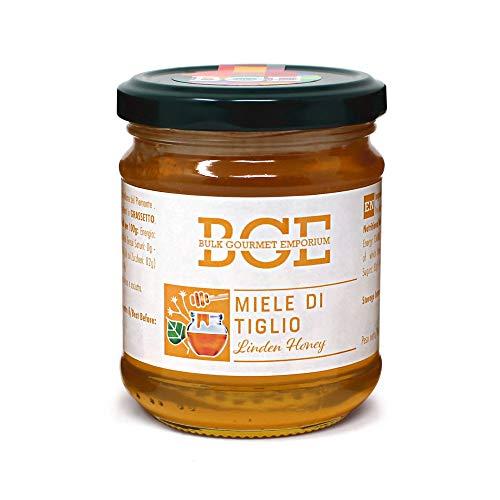 Bulk Gourmet Emporium - Miel de tilo en frascos de vidrio, 3 x 250 g (750 g en total)