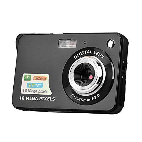Andoer Câmera digital Mini câmera de bolso 18 MP 2.7 polegadas tela LCD 8x zoom captura de sorriso anti-vibração com bateria