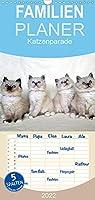 Katzenparade - Familienplaner hoch (Wandkalender 2022 , 21 cm x 45 cm, hoch): Monat fuer Monat eine suesse Babyrunde... (Monatskalender, 14 Seiten )