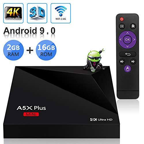 Sidiwen Android 9.0 TV Box A5X Plus Mini Smart Media Player 2GB RAM 16GB ROM...