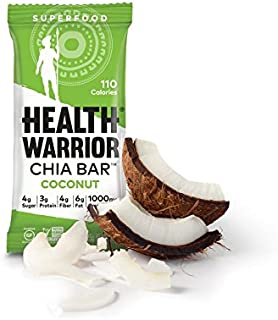 Health Warrior Coconut Chia Bar, (15 Count of 0.88 oz Bars) 13.2 oz