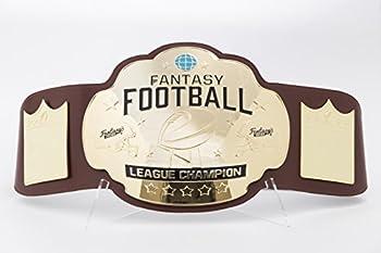 FANTASYJOCKS Fantasy Football Championship Belt Trophy - Brown/Gold