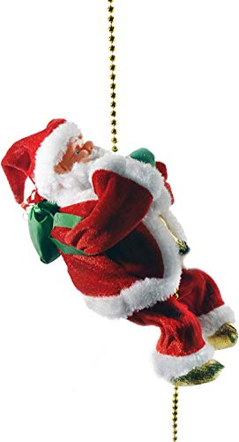 "Haktoys Climbing Santa Claus 9"" Christmas Ornament Decoration Gift 