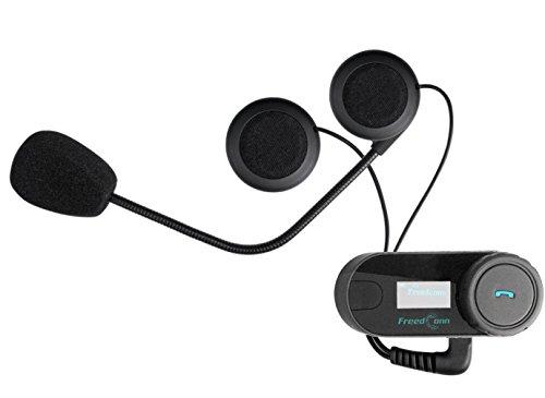 FreedConn Motorrad Intercom TCOM-SC Helm Bluetooth Headset-Gegensprechanlage für Motorrad-Skifahren LCD-Bildschirm / FM Radio / Freisprechen / Reichweite-800M / 2-3Riders Pairing / Schwarz - 2