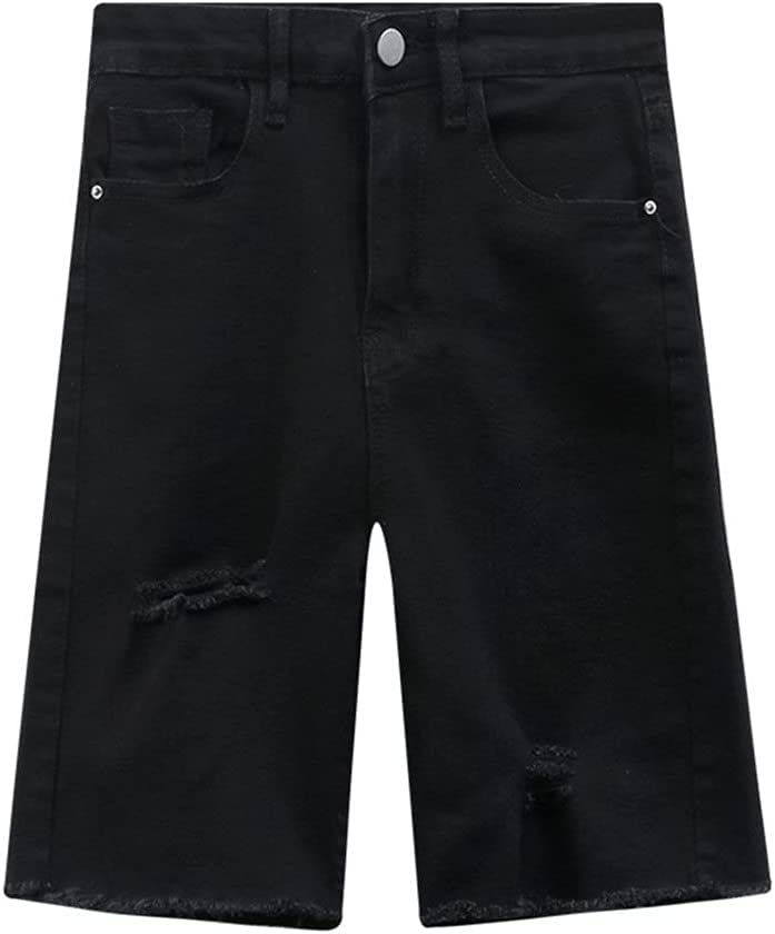 PDGJG Summer New Trend Women's Black S Biker Over item handling ☆ Jeans Shorts Special price Skinny