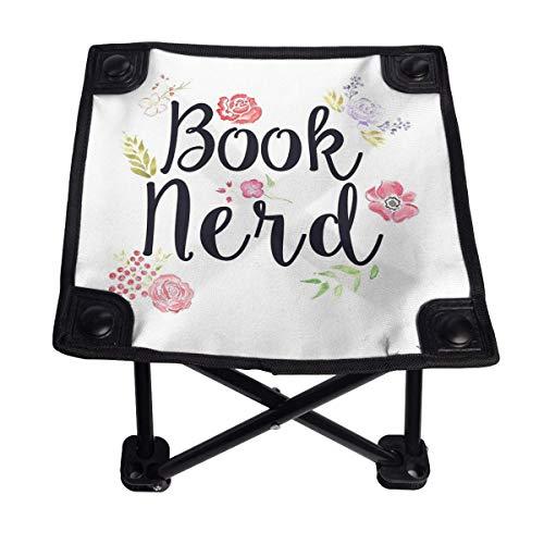 Lesif Silla de camping plegable, libro Nerd portátil de cuatro esquinas para camping, mochilero, senderismo, viajes, pesca, barbacoa, 11 pulgadas