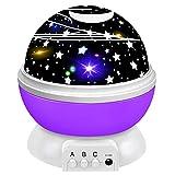 ZIIFEEL Proyector Estrellas,Luz Nocturna Infantil,Proyector de Estrellas,Proyector Estrellas Techo,Luz Nocturna 360° Rotación Romántica,Conecte el Usb,Regalos para Niño(Púrpura)
