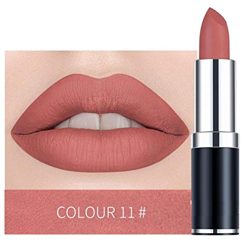 begorey 12 Farben Matte Lippenstift Wasserdichte dauerhafte Kosmetik Make-up Lippenstift Lippenstifte