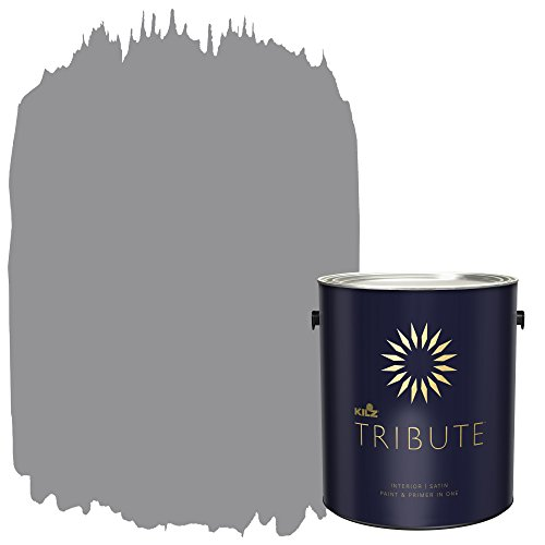 KILZ TRIBUTE Interior Satin Paint and Primer in One, 1 Gallon, Nomad's Trail (TB-35)