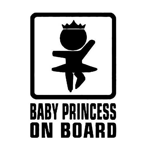 Auto Aufkleber Baby on Board schwarz 16x11cm groß lustig cool Car Sticker Mädchen Princess