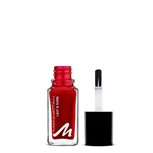 Manhattan Last & Shine Nagellack, Nr.650 Red-Y-Licious, 1er Pack (1 X 10 ml)