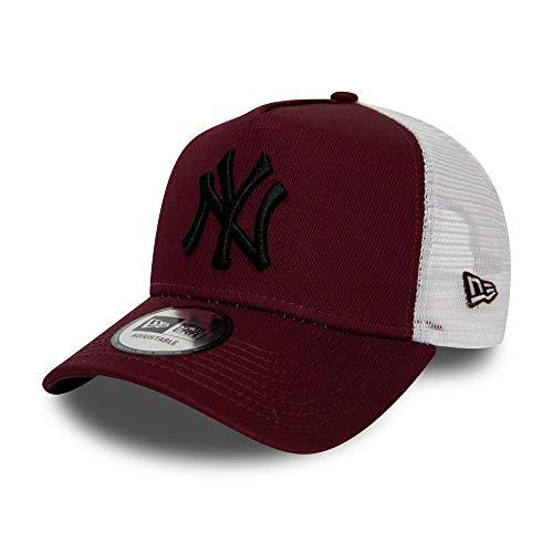 New Era New York Yankees MLB Cap New Era Kappe Baseball Trucker Verstellbar Weinrot Schwarz - One-Size