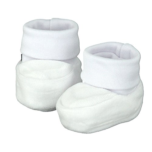 Pantau Babyschuhe Erstlingsschuhe Taufschuhe Babyschühchen Babysocken, Weiß, Samt, 0-3 Monate, 16 EU