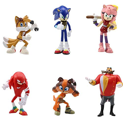 Sonic Cake Topper - WENTS Sonic Mini Juego de Figuras Niños Sonic Mini Juguetes Baby Shower Fiesta...