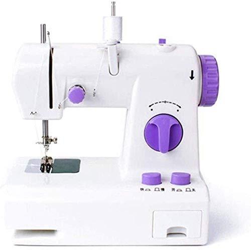 AIWKR Máquina de Coser portátil, máquina de Coser de múltiples Funciones Mini máquina de Coser eléctrica del hogar portátil, Utilizado como artesanía de Ropa y de Clase Media