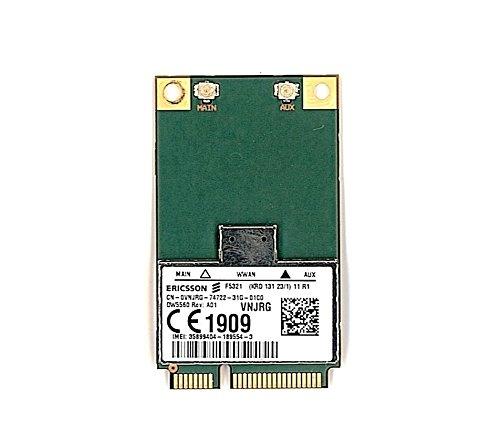Genuine Original DELL 5560 DW5560 WWAN Mobile Broadband HSDPA GPS Ericsson F5321 Mini Card , Dell P/N : VNJRG , 18N03 , FJ8J9 , 556-11245 , UNLOCKED , for Inspiron 5323 Inspiron 5423 , Latitude 6430U E5430 E5530 E6230 E6330 E6430 E6430 ATG E6530 , Precision M4700 M6700 , Vostro 3360 Notebook 3460 , XPS 14 Notebook XPS L421X ,