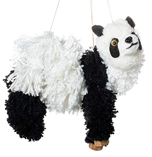 Artisan Owl Panda Bear Marionette Yarn Puppet