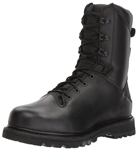 5.11 Tactical Men's 8-Inch Apex Waterproof Leather Combat Military Boots, Black, 45 EU, Style 12374