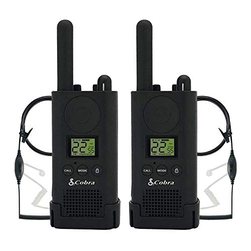 Cobra PX500 Walkie Talkies Pro Business Two-Way Radios (Pair, Bundled with Two GA-SV01 Headsets), Model:PX500BC1-SV01