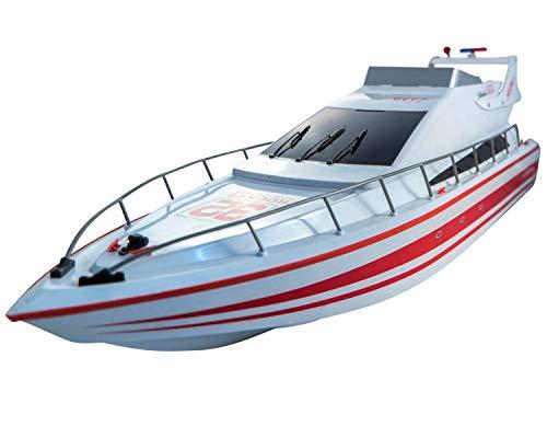 "POCO DIVO Atlantic Yacht Luxury Modern Cruise 28"" RC Model Boat Radio Remote Control Speed Watercraft Racing Ship, Red"
