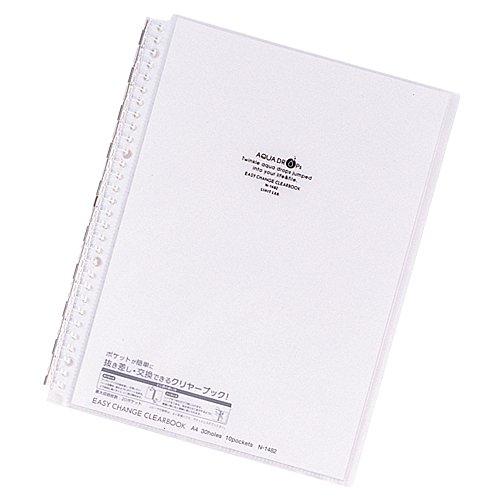 リヒトラブ クリヤーブック 交換式 A4 30穴 10P 乳白 N1482-1