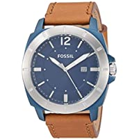 Fossil Men's Privateer Sport Stainless Steel and Leather Multifunction Quartz Watch