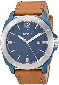Fossil Privateer Sport Three-Hand Date Brown Leather Watch (BQ2323)