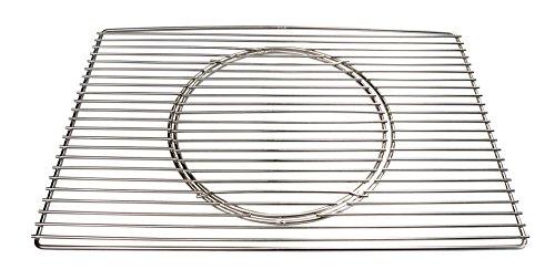 AKTIONA Edelstahl Grillrost 60 x 44,5 cm Expert + Ø 29 cm Herausnehmbaren Runden Grillrost Passend für Weber E 310 320 Grill Gasgrill Hersteller Herstellung