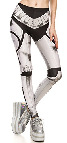 Belsen Damen Elastic Leggings Pants Bleistifthosen Weste T-shirt Set (XL, Leggings)
