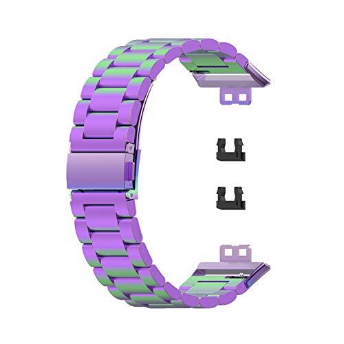 Ooscy Correa de reloj compatible con reloj, de liberación rápida, correa de repuesto de acero inoxidable, fácil de instalar y desmontar alrededor de 186 mm (7.32 pulgadas)