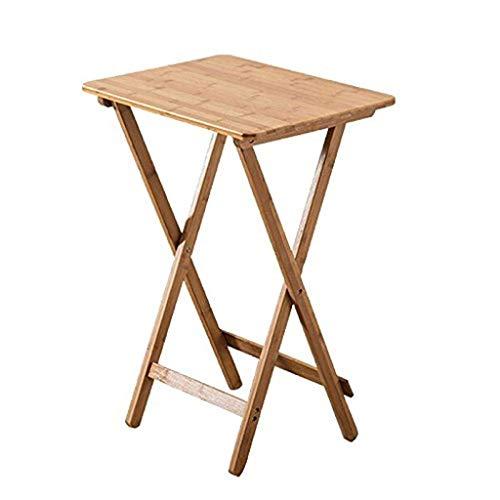 AOIWE Mesa plegable para el hogar portátil mesa de comedor computadora pequeña mesa al aire libre mesa de madera maciza