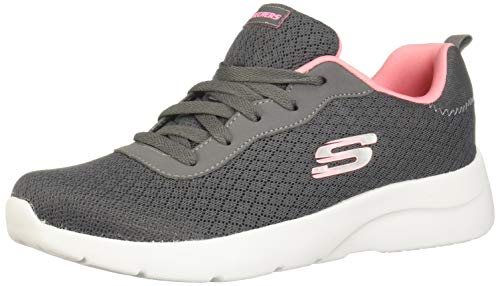 Skechers Dynamight 2.0 Eye to Eye Womens Sneakers Charcoal/Coral 9