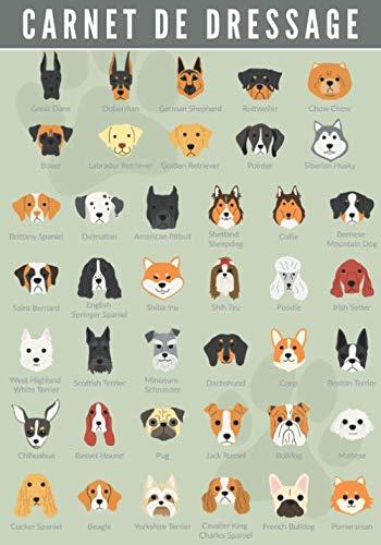 Carnet de Dressage: Canin   Dresser votre Chien & Chiot   Journal d'Apprentissage   Suivez l'éducation de votre Animal de compagnie   Grand format 104 pages   Cadeau Maître & Dresseur.