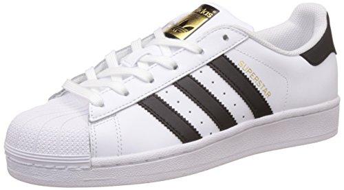 adidas Women's Superstar W Gymnastics Shoes, White (FTWR White/Core Black/FTWR White FTWR White/Core Black/FTWR White), 4.5 UK