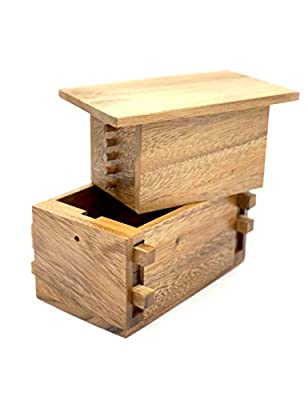 The Secret Gift Compartment Boxes for Money to Keep Your Cash in Puzzle Safe Box Holder with a Magic Wooden Keys Lock Puzzles Cases in Wooden Box Designs to Challenge Mind Puzzles Teaser