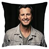 Throw Pillow Case Square Cushion Cover Standard for Men Women Home Decorative Sofa Armchair Bedroom Livingroom 18 x 18 inch